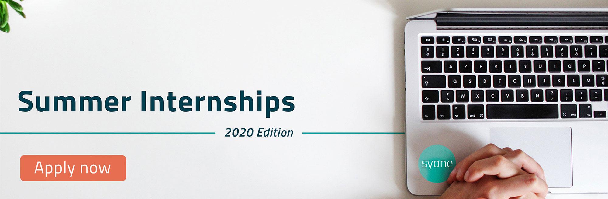 Summer Internships 2020